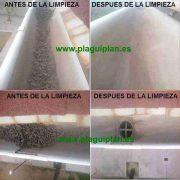 Limpieza de canalones y canaletas de agua de un edificio