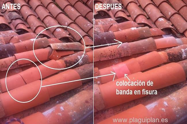 impermeabilización de tejas
