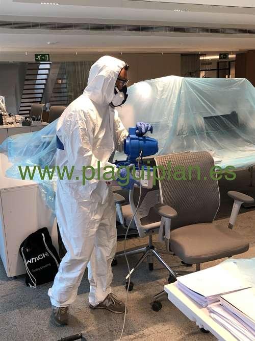 Desinfección de virus coronavirus y bacterias