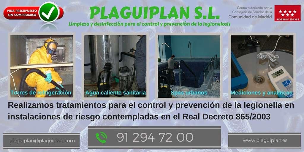 Control de legionella en edificios de Madrid