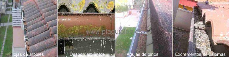 Limpieza de canalones y canaletas de agua