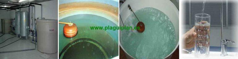 Limpieza y desinfección depósitos de agua fría sanitaria
